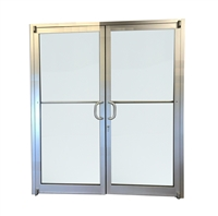 Pre Hung Storefront Double Door With Glass