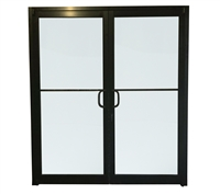 Pre Hung DKB Storefront Double Door With Glass