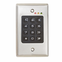 Camden Door Controls Cm-120I: Stand Alone Or Wiegand, Flush Mount, 999 Users, 12/24V Ac/Dc