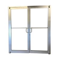 Comanche 6068 Storefront Door Pair, Clear Anodized