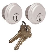 Tahoma Storefront Aluminum Door Lock 2 Pack Mortise Key Cylinder With Same Keys (Specify Finish)