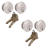 Tahoma Storefront Aluminum Door Lock 4 Pack Mortise Key Cylinders With Same Keys (Specify Finish)