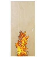 "Lakota Commercial 3'-0"" x 6'-8"" (36"" x 80"") Machined Natural Birch Veneer Solid Particle Core Wood Door with 20 Minute Fire Rating, Hinge Prep, and 161 Cylindrical Lock Prep"