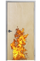 "Lakota Natural Birch Veneer 20 Minute Fire Rated Commercial Wood Door and Frame 3'-0"" x 6'-8"" (36"" x 80""), 1-3/4"" Solid Core Door with Steel Frame, Hinges and Lockset, Made In USA (Specify Options)"