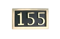 Brass Accents I08-P7530- - PLAQUE FOR 3 NUMERALS BRASS - Brass Finish