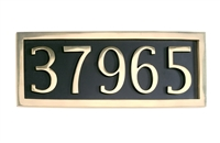 Brass Accents I08-P7550- - PLAQUE FOR 5 NUMERALS BRASS - Brass Finish