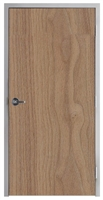 "Lakota Plain Sliced Walnut Commercial Wood Door and Frame 3'-0"" x 7'-0"" (36"" x 84""), 1-3/4"" Solid Core Door with Steel Frame, Hinges and Lockset, Made In USA (Specify Options)"