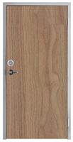 "Lakota Plain Sliced Walnut Commercial Wood Door and Frame 3'-0"" x 7'-0"" (36"" x 84""), 1-3/4"" Solid Core Door with Steel Frame, Hinges, Lock, and Deadbolt, Made In USA (Specify Options)"