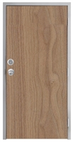 "Lakota Plain Sliced Walnut Commercial Wood Door and Frame 3'-0"" x 7'-0"" (36"" x 84""), 1-3/4"" Solid Core Door with Steel Frame, Hinges, Knob Lock, and Deadbolt, Made In USA (Specify Options)"