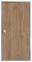 "Lakota Plain Sliced Walnut Commercial Wood Door and Frame 3'-0"" x 7'-0"" (36"" x 84""), 1-3/4"" Solid Core Door with Steel Frame, Hinges and Knob Lock, Made In USA (Specify Options)"