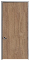 "Lakota Plain Sliced Walnut Commercial Wood Door and Frame 3'-0"" x 9'-0"" (36"" x 108""), 1-3/4"" Solid Core Door with Steel Frame, Hinges and Lockset, Made In USA (Specify Options)"