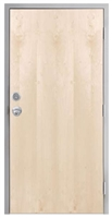 "Lakota Plain Sliced White Birch Commercial Wood Door and Frame 3'-0"" x 7'-0"" (36"" x 84""), 1-3/4"" Solid Core Door with Steel Frame, Hinges, Knob Lock, and Deadbolt, Made In USA (Specify Options)"