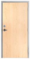 "Lakota Plain Sliced White Maple Commercial Wood Door and Frame 3'-0"" x 7'-0"" (36"" x 84""), 1-3/4"" Solid Core Door with Steel Frame, Hinges, Lock, and Deadbolt, Made In USA (Specify Options)"