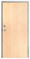 "Lakota Plain Sliced White Maple Commercial Wood Door and Frame 3'-0"" x 7'-0"" (36"" x 84""), 1-3/4"" Solid Core Door with Steel Frame, Hinges, Knob Lock, and Deadbolt, Made In USA (Specify Options)"
