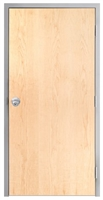 "Lakota Plain Sliced White Maple Commercial Wood Door and Frame 3'-0"" x 7'-0"" (36"" x 84""), 1-3/4"" Solid Core Door with Steel Frame, Hinges and Knob Lock, Made In USA (Specify Options)"