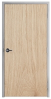 "Lakota Plain Sliced White Oak Commercial Wood Door and Frame 3'-0"" x 7'-0"" (36"" x 84""), 1-3/4"" Solid Core Door with Steel Frame, Hinges and Lockset, Made In USA (Specify Options)"