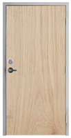 "Lakota Plain Sliced White Oak Commercial Wood Door and Frame 3'-0"" x 7'-0"" (36"" x 84""), 1-3/4"" Solid Core Door with Steel Frame, Hinges, Lock, and Deadbolt, Made In USA (Specify Options)"