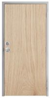 "Lakota Plain Sliced White Oak Commercial Wood Door and Frame 3'-0"" x 7'-0"" (36"" x 84""), 1-3/4"" Solid Core Door with Steel Frame, Hinges, Knob Lock, and Deadbolt, Made In USA (Specify Options)"