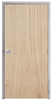 "Lakota Plain Sliced White Oak Commercial Wood Door and Frame 3'-0"" x 7'-0"" (36"" x 84""), 1-3/4"" Solid Core Door with Steel Frame, Hinges and Knob Lock, Made In USA (Specify Options)"