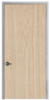 "Lakota Plain Sliced White Oak Commercial Wood Door and Frame 4'-0"" x 8'-0"" (48"" x 96""), 1-3/4"" Solid Core Door with Steel Frame, Hinges and Lockset, Made In USA (Specify Options)"