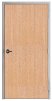 "Lakota Rift Red Oak Commercial Wood Door and Frame 3'-0"" x 7'-0"" (36"" x 84""), 1-3/4"" Solid Core Door with Steel Frame, Hinges and Lockset, Made In USA (Specify Options)"
