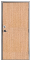 "Lakota Rift Red Oak Commercial Wood Door and Frame 3'-0"" x 7'-0"" (36"" x 84""), 1-3/4"" Solid Core Door with Steel Frame, Hinges, Lock, and Deadbolt, Made In USA (Specify Options)"