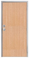 "Lakota Rift Red Oak Commercial Wood Door and Frame 3'-0"" x 7'-0"" (36"" x 84""), 1-3/4"" Solid Core Door with Steel Frame, Hinges, Knob Lock, and Deadbolt, Made In USA (Specify Options)"