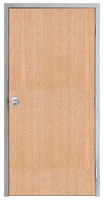 "Lakota Rift Red Oak Commercial Wood Door and Frame 3'-0"" x 7'-0"" (36"" x 84""), 1-3/4"" Solid Core Door with Steel Frame, Hinges and Knob Lock, Made In USA (Specify Options)"