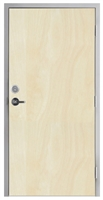 "Lakota Rotary White Birch Commercial Wood Door and Frame 3'-0"" x 6'-8"" (36"" x 80""), 1-3/4"" Solid Core Door with Steel Frame, Hinges, Lock, and Deadbolt, Made In USA (Specify Options)"