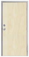 "Lakota Rotary White Birch Commercial Wood Door and Frame 3'-0"" x 6'-8"" (36"" x 80""), 1-3/4"" Solid Core Door with Steel Frame, Hinges, Knob Lock, and Deadbolt, Made In USA (Specify Options)"