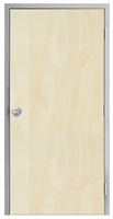 "Lakota Rotary White Birch Commercial Wood Door and Frame 3'-0"" x 7'-0"" (36"" x 84""), 1-3/4"" Solid Core Door with Steel Frame, Hinges and Knob Lock, Made In USA (Specify Options)"
