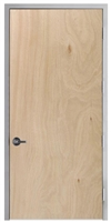 "Lakota Rotary Natural Birch Commercial Wood Door and Frame 3'-0"" x 8'-0"" (36"" x 96""), 1-3/4"" Solid Core Door with Steel Frame, Hinges and Lockset, Made In USA (Specify Options)"