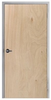 "Lakota Rotary Natural Birch Commercial Wood Door and Frame 2'-6"" x 6'-8"" (30"" x 80""), 1-3/4"" Solid Core Door with Steel Frame, Hinges and Lockset, Made In USA (Specify Options)"