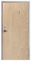 "Lakota Rotary Natural Birch Commercial Wood Door and Frame 3'-0"" x 6'-8"" (36"" x 80""), 1-3/4"" Solid Core Door with Steel Frame, Hinges, Lock, and Deadbolt, Made In USA (Specify Options)"