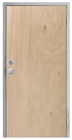 "Lakota Unfinished Rotary Natural Birch Commercial Wood Door and Frame 3'-0"" x 6'-8"" (36"" x 80""), 1-3/4"" Solid Core Door with Steel Frame, Hinges, Knob Lock, and Deadbolt (Specify Options)"