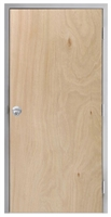 "Lakota Rotary Natural Birch Commercial Wood Door and Frame 3'-0"" x 6'-8"" (36"" x 80""), 1-3/4"" Solid Core Door with Steel Frame, Hinges and Knob Lock, Made In USA (Specify Options)"