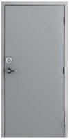"Commercial Hollow Metal Door and Frame, 2'-6"" x 6'-8"" (30"" x 80"") 18 Gauge Polystyrene Core Door with 16 Gauge Drywall Knock Down Frame, Deadbolt and Lever Lock, Made in USA"