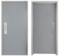 "Commercial Hollow Metal Door and Frame, 2'-6"" x 6'-8"" (30"" x 80"") 18 Gauge Polystyrene Core Door with 16 Gauge Drywall Knock Down Frame, Push / Pull Plate, Made in USA"