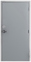 "42"" x 84"" Hollow Metal Door, Drywall Frame, Lock, Deadbolt"