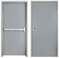 "42"" x 84"" Steel Door, Drywall Frame, Exit Device, Outside Lever"