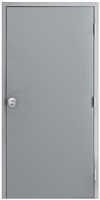 "42"" x 84"" Hollow Metal Door, Drywall Frame, Knob"
