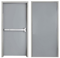 "42"" x 84"" Steel Door, Drywall Frame, Exit Device"
