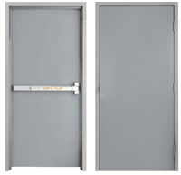 "42"" x 84"" Steel Door, Drywall Frame, Alarm Exit Device"