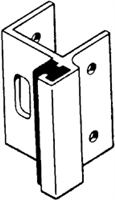 S. Parker Hardware Sph-751, Inswing Strike, For Rounded Molding, Pol. Chrome For Concealed Latch W/ Rectangular Bar