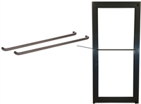 Storefront ADA Dark Bronze Back To Back Push Bars