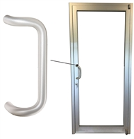 Storefront Door ADA Offset Pull Handle