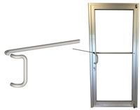 Storefront ADA Offset Pull & Single Bend Push Bar