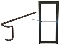 ADA Dark Bronze Offset Pull & Single Bend Push Bar