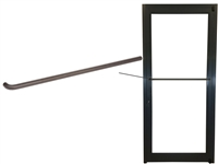 Storefront ADA Dark Bronze Single Bend Push Bar
