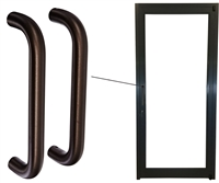 ADA Dark Bronze Back To Back Straight Pull Handles